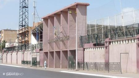 """Ici même, entrée du stade Bouakeul d'Oran où l'on entendit pour la 1ère fois """"One two three..."""""""